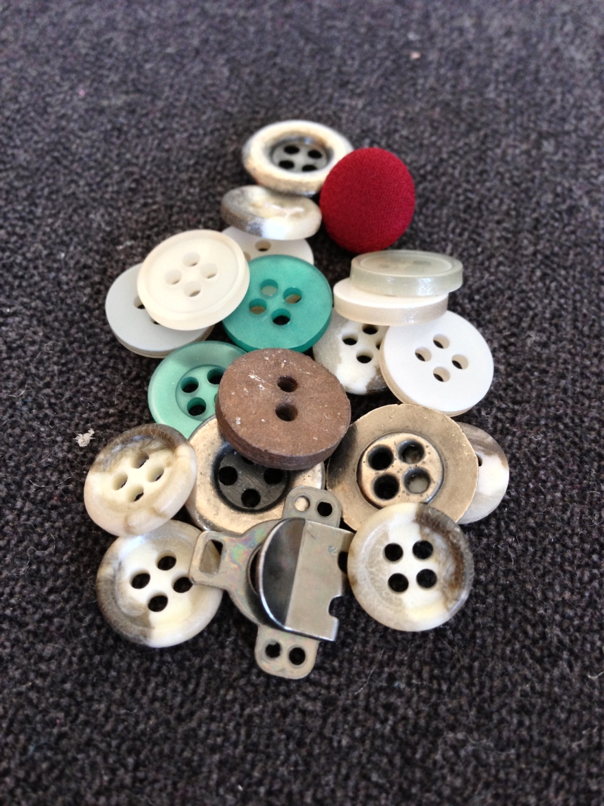 From my jar full of buttons of all shapes and sizes