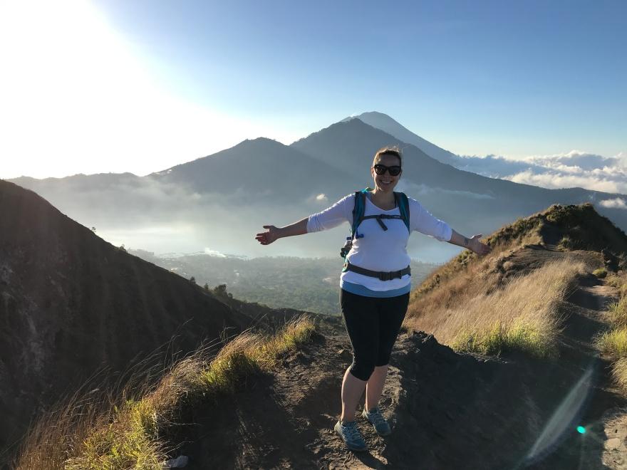 Erin Burrell Mt. Batur Bali